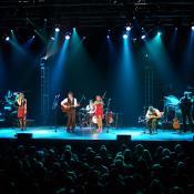 Band at a Christmas show