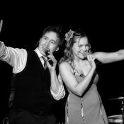 Ric and Laura Singing at a Christmas with the Celts show